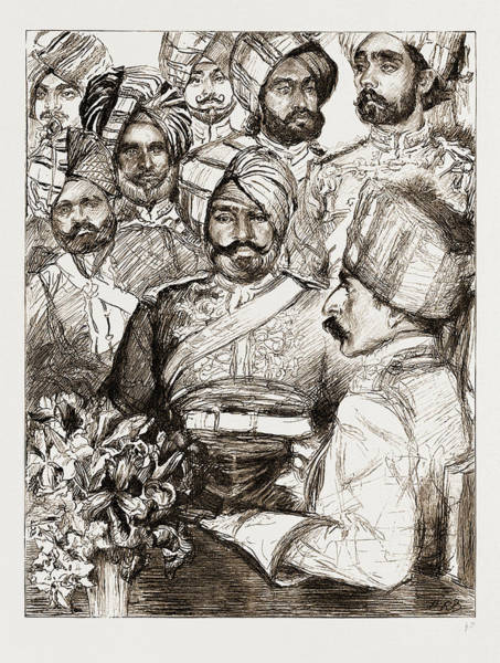 Singh Drawing - Diamond Jubilee Visitors, Uk, 1897 Officers Of The Imperial by Litz Collection