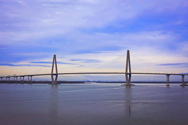 South Carolina Photograph - Diamond-shaped Suspended Bridge by Daniela Duncan