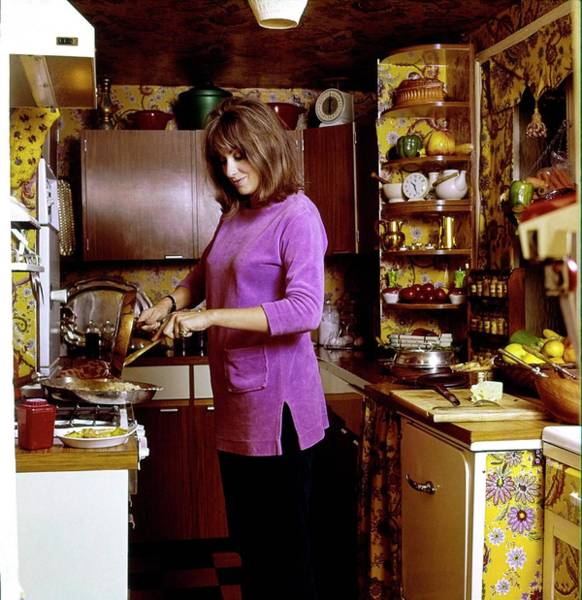 Western Society Photograph - Diana Phipps Cooking At Home by Henry Clarke