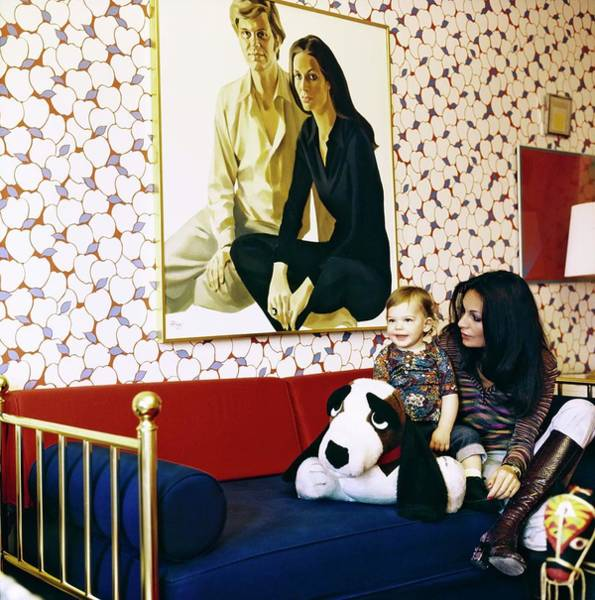 Wall Art - Photograph - Diane Von Furstenberg With Her Son by Horst P. Horst