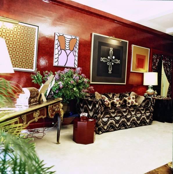 Modernist Photograph - Diane Von Furstenberg's Living Room by Horst P. Horst