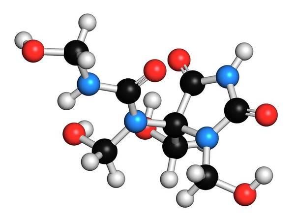 Preservative Wall Art - Photograph - Diazolidinyl Urea Molecule by Molekuul/science Photo Library