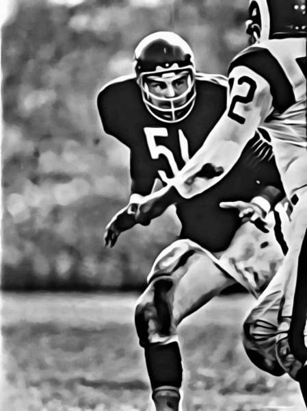 Wall Art - Painting - Dick Butkus by Florian Rodarte