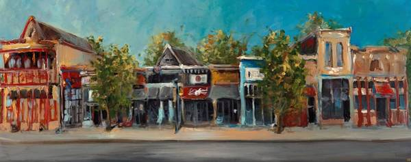 Arkansas Wall Art - Painting - Dickson Street by Cari Humphry