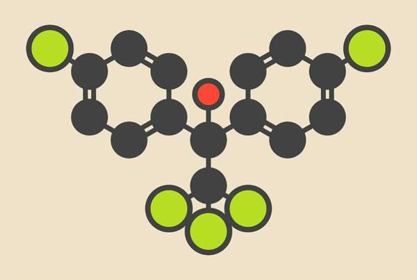 Dicofol Organochlorine Pesticide Molecule Art Print