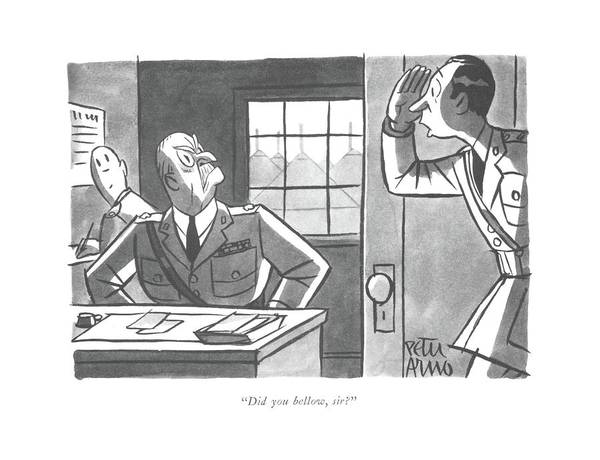 Drawing - Did You Bellow by Peter Arno