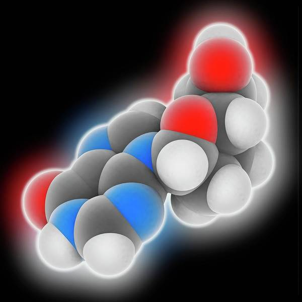 Syndrome Wall Art - Photograph - Didanosine Drug Molecule by Laguna Design