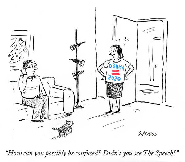 Didn't You See The Speech Art Print