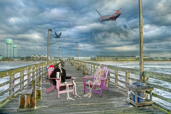 Guard Tower Wall Art - Photograph - Die Hard Fishermen by Betsy Knapp
