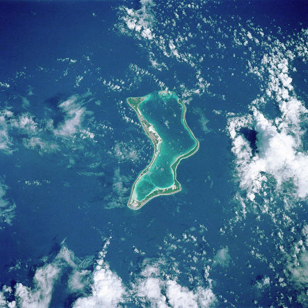 Wall Art - Photograph - Diego Garcia Coral Atoll by Nasa/science Photo Library