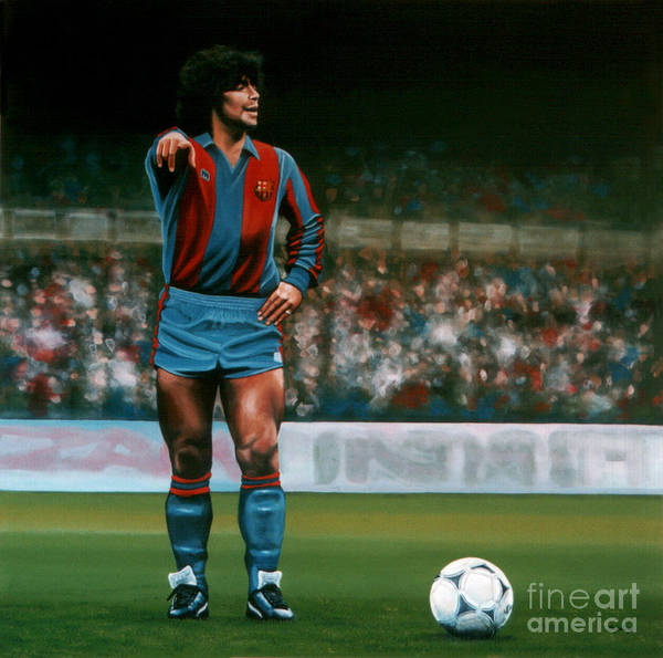 Football Players Wall Art - Painting - Diego Maradona by Paul Meijering