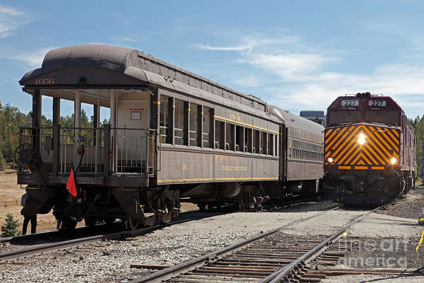 Photograph - Diesel Electric Engine 227 Reversing Engines At Fir Station by Fred Stearns