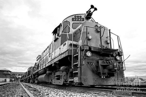 Photograph - Diesel Electric Locomotive by Olivier Le Queinec