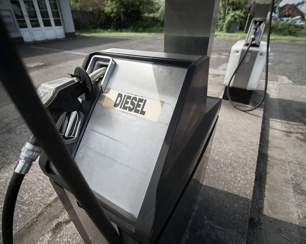 Oil Pump Photograph - Diesel Pump At Filling Station by Robert Brook