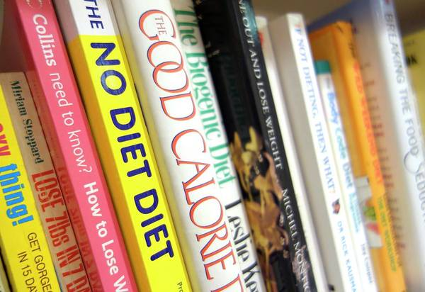 Book Shelf Photograph - Diet Books by Cordelia Molloy