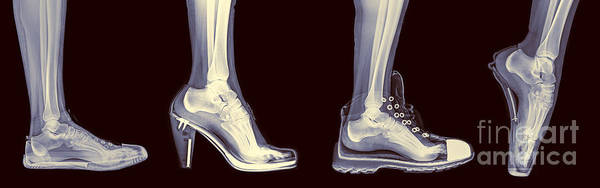 Wall Art - Photograph - Different Shoes X-ray  by Guy Viner