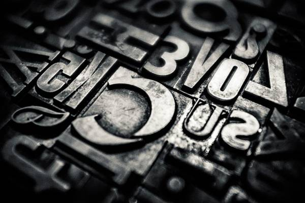 Wall Art - Photograph - Different Sizes Of Typographical Pieces by Simone Conti / Eyeem
