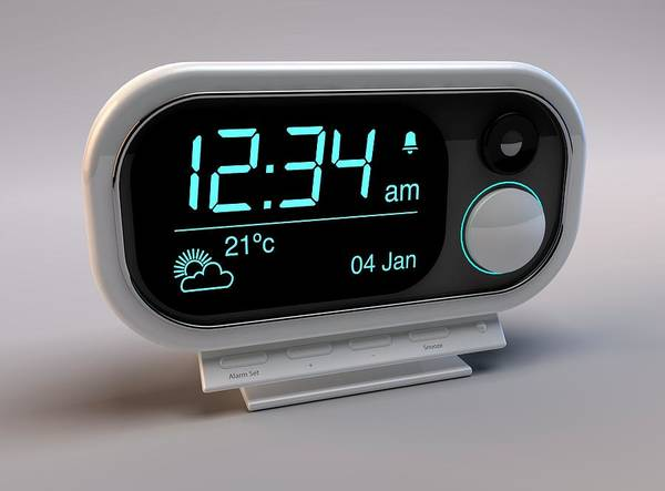 Alarm Clock Photograph - Digital Alarm Clock by Paul Wootton/science Photo Library