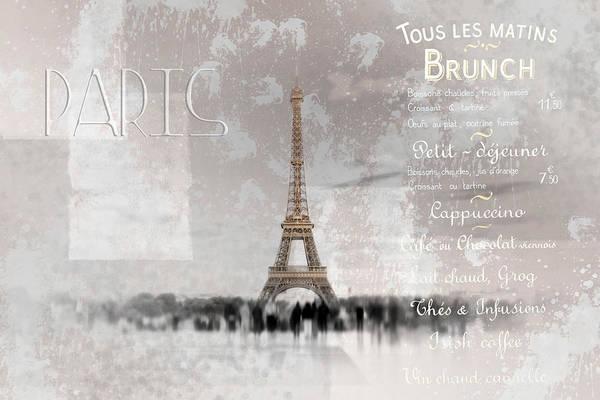 La Tour Eiffel Photograph - Digital-art Eiffel Tower II by Melanie Viola