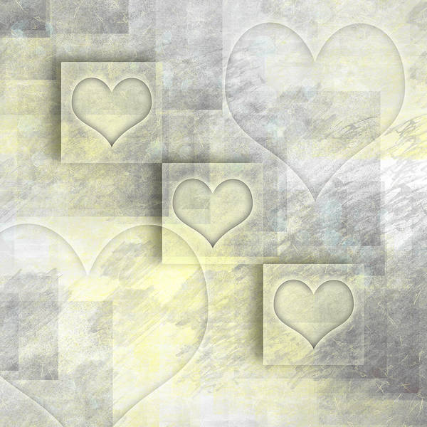 Contour Digital Art - Digital-art Hearts II by Melanie Viola