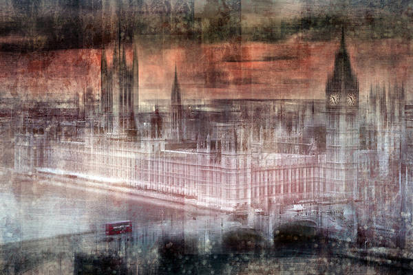 Digital-art London Westminster II Art Print