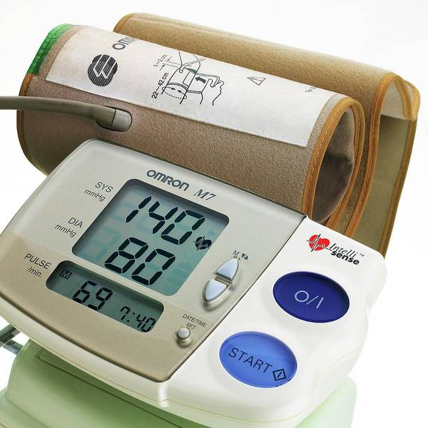 Blood Pressure Wall Art - Photograph - Digital Blood Pressure Monitor by Mark Sykes