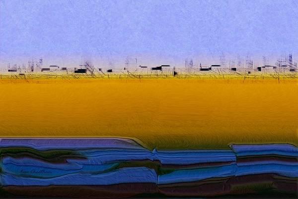 Digital Art - Digital City Landscape - 2 by Kae Cheatham