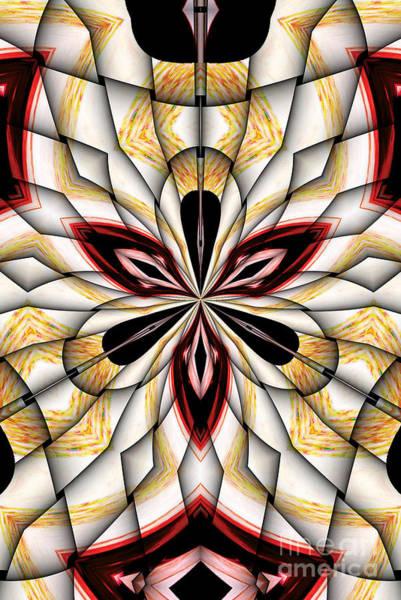 Vitrage Wall Art - Digital Art - Digital Clover by Galactic  Mantra