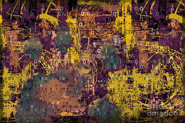 Wall Art - Digital Art - Digital Hell by Peter Awax