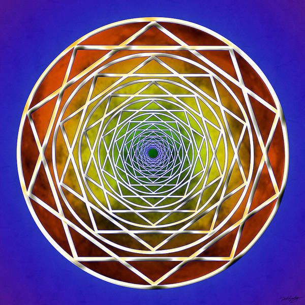 Digital Art - Digital Pentagon Wormhole by Derek Gedney