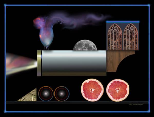 Painting - Digital Train Collage by John Norman Stewart