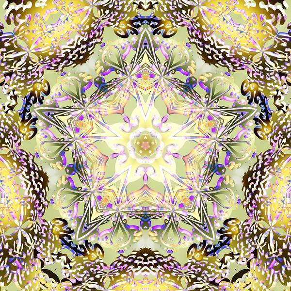 Digital Art - Digmandala Simha by Derek Gedney