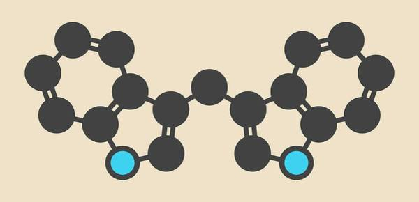 Kale Photograph - Diindolylmethane Molecule by Molekuul