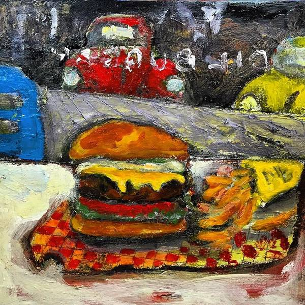 Painting - Dil Burger by Dilip Sheth
