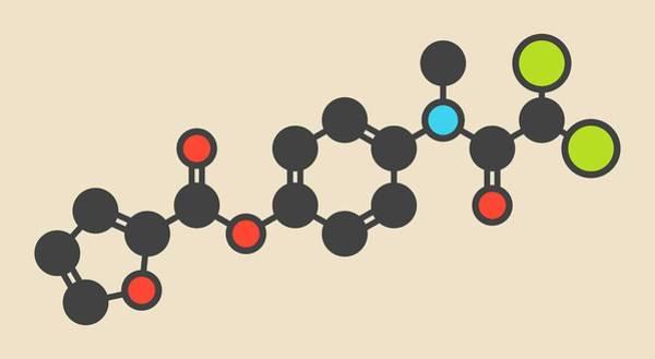 Amoebiasis Wall Art - Photograph - Diloxanide Furoate Amoebiasis Molecule by Molekuul
