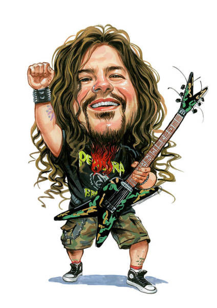 Wall Art - Painting - Dimebag Darrell by Art