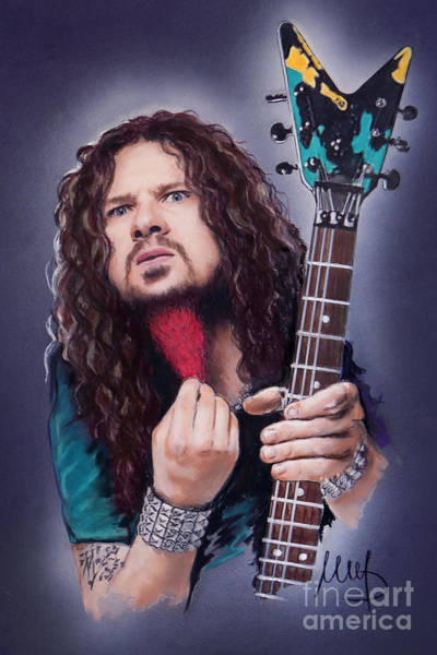 Thrash Metal Wall Art - Mixed Media - Dimebag Darrell  by Melanie D