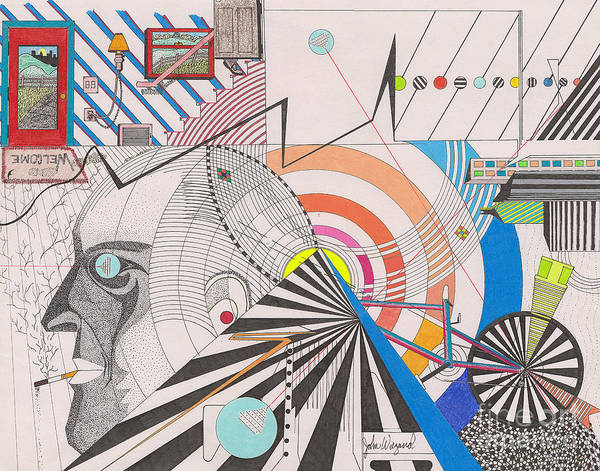 Drawing - Dimension  by John Wiegand