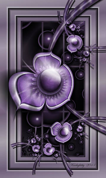 Digital Art - Dimensions Of Purple by Karla White