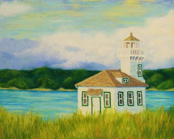Port Townsend Painting - Dimick Lighthouse by Rebecca Prough