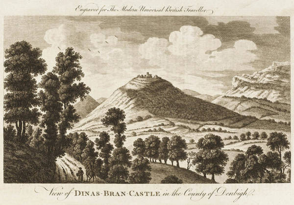 Wales Drawing - Dinas-bran Castle, Denbigh, Wales by Mary Evans Picture Library