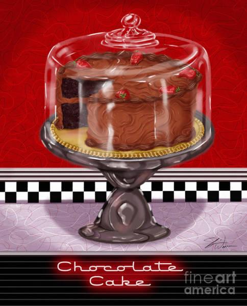 Diner Desserts - Chocolate Cake Art Print