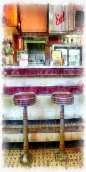 Wall Art - Photograph - Diner Phone Case by Edward Fielding