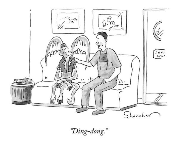 Witches Drawing - Ding-dong by Danny Shanahan