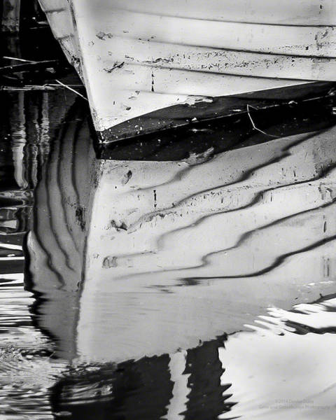 Photograph - Dinghie Ripplesbw By Denise Dube by Denise Dube