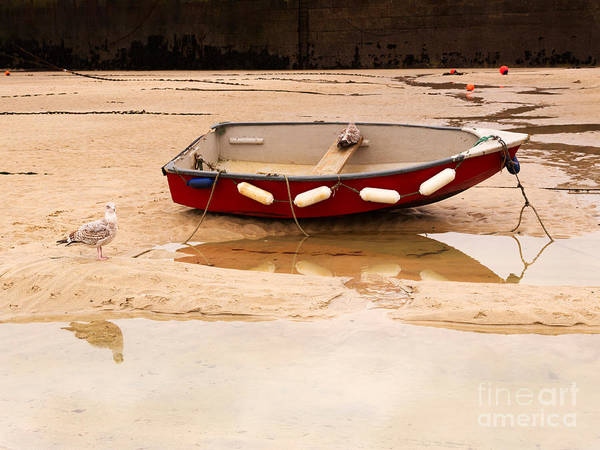 Ives Photograph - Dinghy At Low Tide In St Ives Cornwall by Louise Heusinkveld