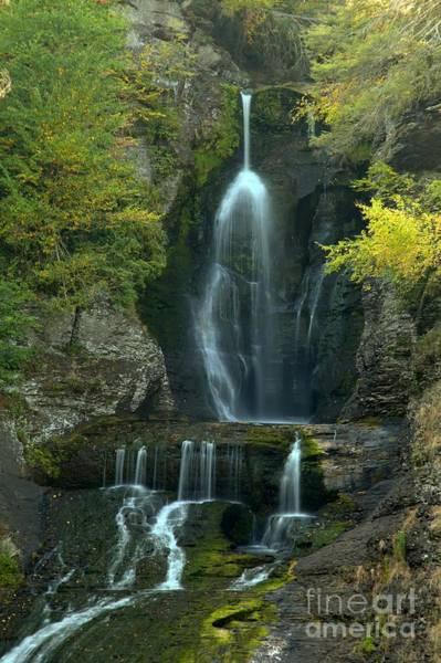 Photograph - Dingmans Falls Cascades by Adam Jewell
