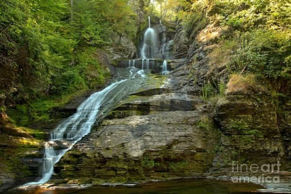 Photograph - Dingmans Falls Landscape by Adam Jewell