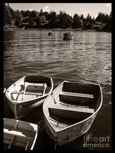 Acadia National Park Wall Art - Photograph - Dingy Docked In Seal Cove Maine by Edward Fielding