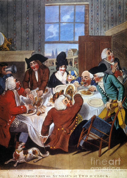 Photograph - Dining At A Tavern, 1787 by Granger